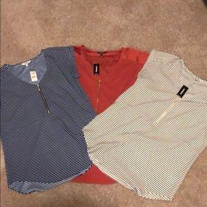 3-pack never worn express shirts